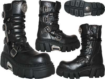 d3969c06 сапоги Newrock, Мужской, черный, натуральная кожа, ME 373 S1 Nomada ...