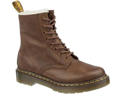 4167dd4e ботинки зимние Dr. Martens, Мужская-Женская, коричневый, натуральная ...
